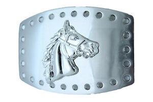 Men Women Western Fashion Belt Buckle Silver Metal Rodeo Horse Animal Country