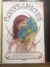 Florence + The Machine Poster San Francisco The Masonic 2015 MINT