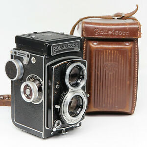Rollei Rolleicord V w/Xenar 1:3.5 75mm - Case - Good vintage condition