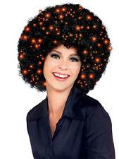 Black Fiber Optics Light Up Afro Wig Disco Pimp