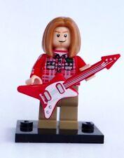 CUSTOM 100% real LEGO ROCKER Kurt Cobain Nirvana ROCK STAR with guitar grunge
