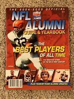 The 2004-2005 Official NFL Alumni Guide & Yearbook Magazine Jim Brown Cover