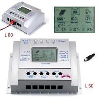 Sun YOBA LCU 60A 80A MPPT Solar Panel Controller Regulator Charge Battery USB UP