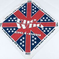 """Vintage 80s The Who 1989 Concert Tour Bandanna """"The kids are alright"""""""