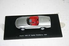 1/43 ABARTH FIAT 1000 GT 1964 SILVER RED INTERIOR PININFARINA SPARK FREE SHIP