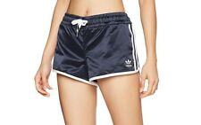MED adidas  Originals  Women's  Slim Fit   3-STRIPES  GYM  SHORTS  Blue  1AVL