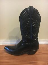 Santa Fe Boot Company Black Womens Leather Cowboy Boots Size 8 8M EUC