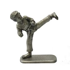 Taekwondo Kick Figurines Korean Folk Martial Arts Pewter Sculpture Statue Gift