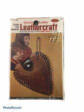 Arrow Leather Craft Kit Heart Purse Vintage 1976 Unopened