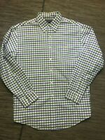 Brooks Brothers Large Non Iron Button Down Shirt Long Sleeve Plaid Supima Cotton