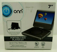 "Onn 7"" Portable Dvd Player Kit, Black, With 4 Hour Battery,ONN,T-701"