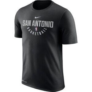 NIKE NBA SAN ANTONIO SPURS BLACK DRY PRACTICE SHOOT DRI FIT SHIRT