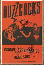 Buzzcocks autographed gig poster Danny Farrant, Chris Remington, Pete Shelley
