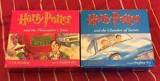 Harry Potter CD Audio Books Chamber Secrets Philosophers Stone Unabridged 15x CD
