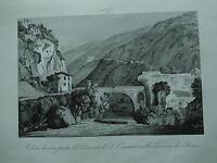 1845 Zuccagni-Orlandini Veduta di parte del Convento di S. Cosimato Comarca Roma