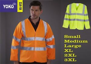 Hi Vis Long Sleeve Vest Hi Vis Waistcoat High Viz Visibility Jacket yk105