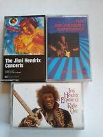 Lot Of 3 Jimi Hendrix Cassette tapes Vintage