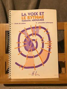Isabelle Aboulker La voix et le rythme méthode partition chant éditions Lemoine