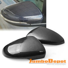 Real Carbon Fiber Side Mirror Covers Trim For 10-14 VW Volkswagen Golf MK6 GTI