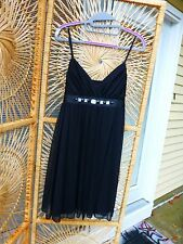 Lovely Black Chiffon Cocktail Dress Size M Holiday Evening Club wear SWEET