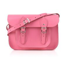 "THE CAMBRIDGE SATCHEL COMPANY ""11 Inch Classic"" Pink Leather Crossbody Bag Purse"