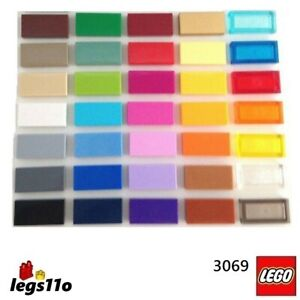 LEGO NEW - Flat Tile 1x2 3069 30070 (Pack of 1, 2, 4 or 8)