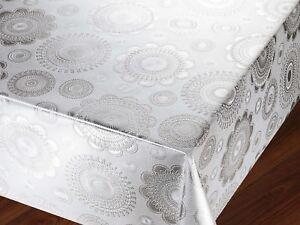 Wipe Clean Tablecloth Vinyl PVC (140 cm x 150 cm )new
