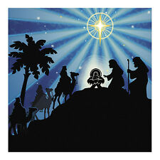 6ft Religious Nativity CHRISTMAS Manger Silhouette Scene WALL MURAL BACKDROP