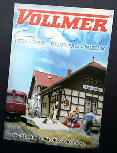 """Vollmer Prospekt """"Neu 2000"""", DIN A4, 12 Seiten, Neu!"""