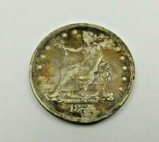 1877-S TRADE DOLLAR   RARER OLDER  COIN    HOLED PLUGGED