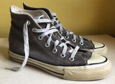 Converse All Star USA MADE Vintage Suede Gray HiTop Sneakers Men's Size 5.5 NICE