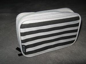 Agnes B Cathay Pacific Airlines Airplane Amenity Kit Black Gray Cosmetic Bag