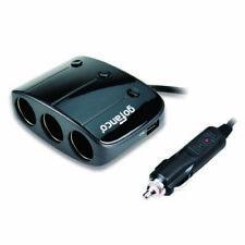 Gofanco 3-socket Cigarette Lighter 12/24v 120w DC Power Splitter With 2 USB Char