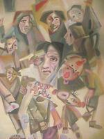 Filonov-Schule: Personenstaffage, Gouache