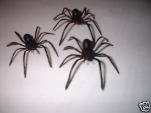 3 Fake Spiders.So realistic.Great Party Joke Trick. Guaranteed delivery.