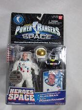 POWER RANGERS SPACE: HEROES OF SPACE ASTRONAUT ALAN BEAN & BLACK RANGER 1997 MOC