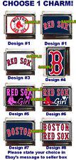 Boston Red Sox Custom Italian Charm! Red Sox Girl! Choose from many!
