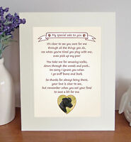 """Patterdale Terrier 10"""" x 8"""" 'Thank You' Poem Fun Novelty Gift FROM THE DOG"""