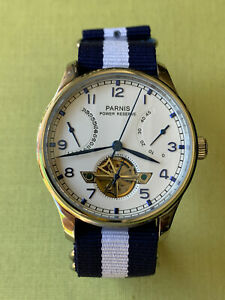 Parnis SeaGull Automatic Watch * Retrograde * Open Heart * Power Reserve * PA767