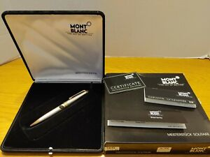 Vtg Montblanc Meisterstuck Solitaire 164S Sterling Silver Barley Ballpoint Pen