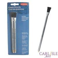 Derwent Eraser Pencils with Brush, Set of 2