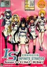 DVD Anime IS Infinite Stratos Complete TV Series 1-26 End Season 1+2 English Sub