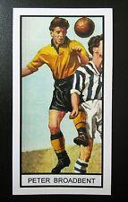 WOLVES - PETER BROADBENT - Memory Lane UK football trade card