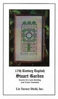 17th Century English Stuart Garden Cross Stitch Kit Liz Turner Diehl w Floss