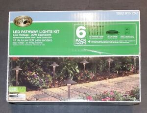 NEW 6 PACK 1.8W Mediterranean Bronze-Metal Outdoor LED Landscape Path Light Kit