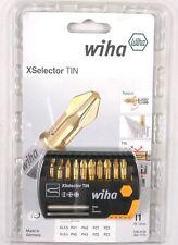 Wiha Bit Set X-Selector TiN  Schlitz / PH / PZ 11tlg inkl. Bithalter #7944-065