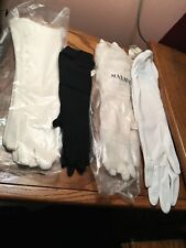 Lot of 4 Pair  Vintage Ladies' Gloves NOS NEW White Black Beige