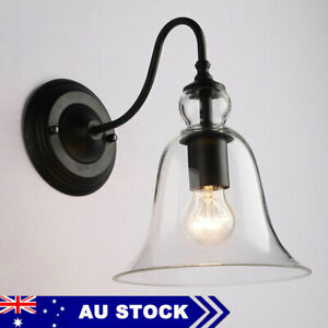 Kitchen Indoor Glass Wall Sconce Vintage Wall Light  Swing Arm Wall Lamp
