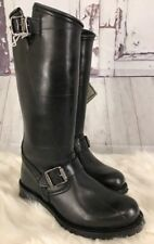New FRYE Boots Shearling Lined ENGINEER Buckle  #3476663 NWOB 6.5 Moto