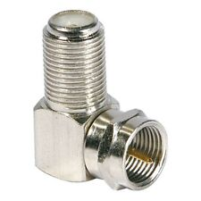 TV Antenna-satellite Cable Connector F-Type Male to Female Right Angle